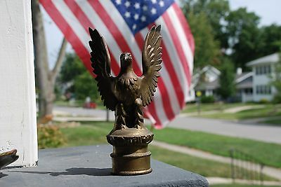 Brass Eagle Flag Finial Topper for Large pole 8 inches Tall