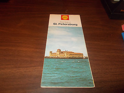 1966 Shell St. Petersburg/Tampa Vintage Road Map