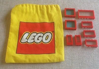 Lego canvas bag with old lego accessories