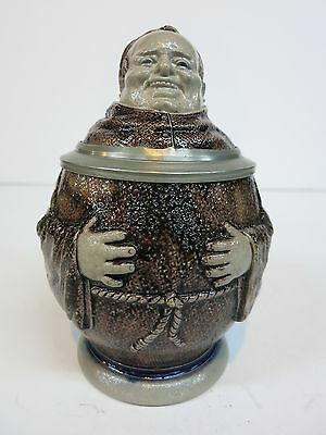 Character Beer Stein Happy Monk Saltglaze Musterschutz High Quality 100 Year Old