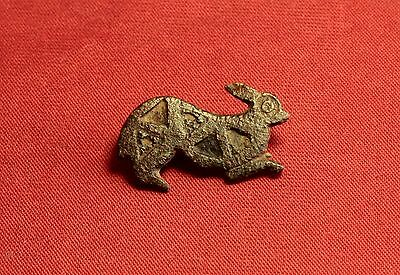 Ancient Roman Rabbit Fibula or Brooch, 2. Century - Zoomorph!