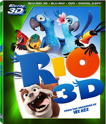 Rio [4 Discs] [Includes Digital Copy] [3D] [B (2011, Blu-ray NEUF) BL (RÉGION A)