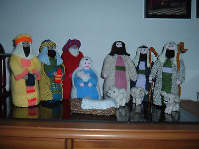 Hand Knitted Nativity Set 9 Inches Tall
