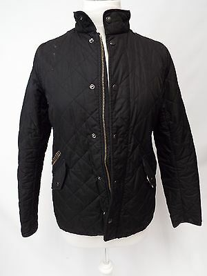 Girls BARBOUR Chelsea Black Quilted Quilt Popper Jacket XXL 14/15 Yrs - E14
