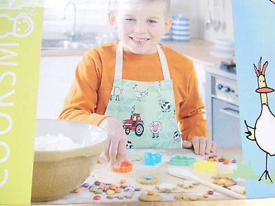 boys cooksmart chefs apron - tractor theme and accessories - new