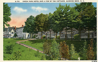 Blowing Rock North Carolina Green Park Hotel Linen Postcard