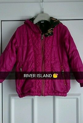 girls reversible river island coat age 5 years ��