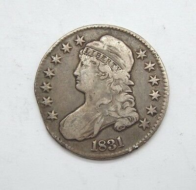 BARGAIN 1831 Capped Bust/Lettered Edge Half Dollar VERY FINE Silver 50-Cents