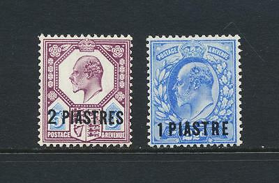 British Levant 1905-8 Set Vf Lightly Hinged Og Sg#13-14