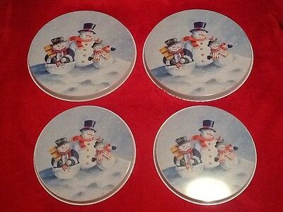 Christmas - Set of Four Snowman Hob Covers BNWOT