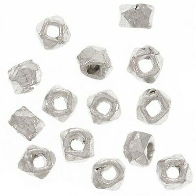 Bali Sterling Silver Facet Nugget Beads 2.5mm (24 Pieces)