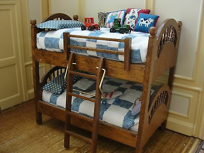 SALE : Bunk Beds with Accessories - Dollhouse Miniature
