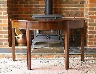 Mahogany D End Console Table Hall Occasional Wooden Antique Vintage Buffet Wood