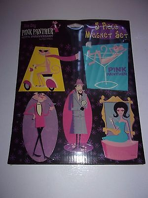 New Pink Panther 40th anniversary ata-boy 5 Piece Magnet Set - Wrapped condition