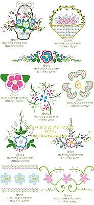 "SET 3 ""FLOWER POWER"" for MACHINE EMBROIDERY DESIGN, FAST EMAIL"