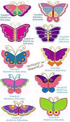 """Set 4 """"Butterfly & Dragonfly"""" Machine Embroidery Design, Fast & Free P/p Email"""
