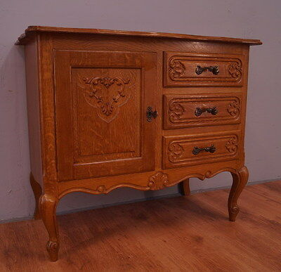 1154 ! Impressive French Oak Cabinet/cupboard In Louis Xv Style !!