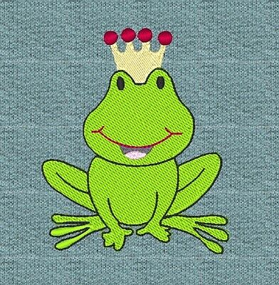 """FROG The PRINCE"" MACHINE EMBROIDERY DESIGN, FAST & FREE P/P EMAIL, CUTE, NEW"