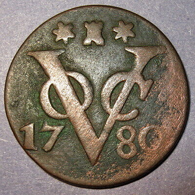 Certificate of Authenticity 1780 New York Penny VOC Zeeland Dutch Colonial Penny