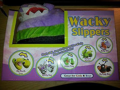 wacky slippers baby dino size M 12.5 to 1.5