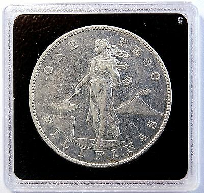1905 S 1 Peso US-Philippines Silver Dollar Crown Coin SUPER NICE  LV#615