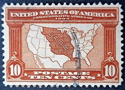 U.S.Stamps:Scott#327, 10c, Red Brown, The Louisiana Purchase Exposition of 1904