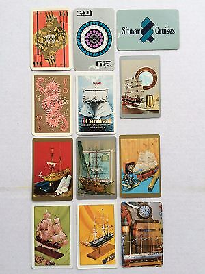 Mixed Lot of 12 X Vintage Swap / Playing Cards - Shipping - Transport