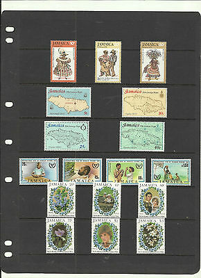 Jamaica  1977 - 1982 . 4 x Mint Sets