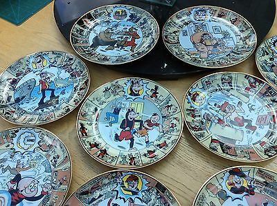 Eleven plates from  / THE OFFICIAL BEANO PLATE COLLECTION / DANBURY MINT