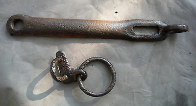 Antique Vtg Black Smith made Latch for Plank Door or Gate projects