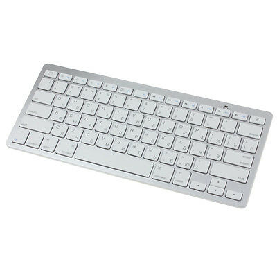 Slim Mini Bluetooth Wireless Russian Keyboard For Win8 XP IOS Android White