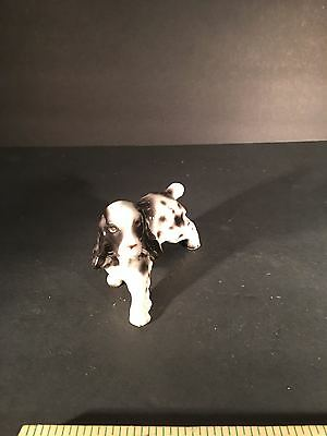 Vintage English Springer Spaniel Dog Miniature Figurine Puppy dog groomer gift