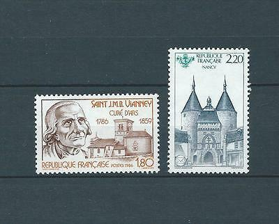 FRANCE - 1986 YT 2418 à 2419 - TIMBRES NEUFS** LUXE