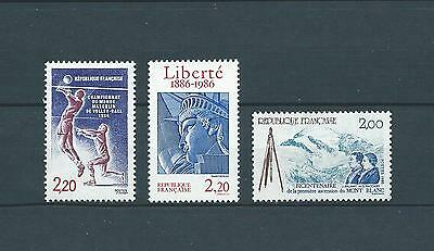 FRANCE - 1986 YT 2420 à 2422 - TIMBRES NEUFS** LUXE