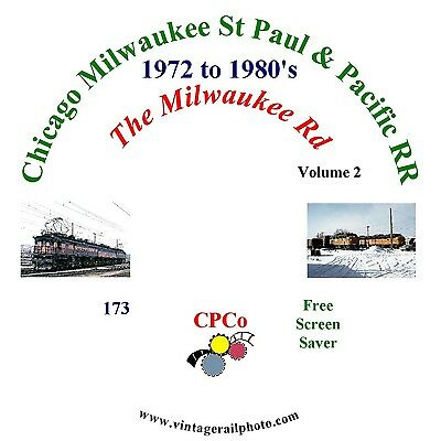 Vintage Railroad Photo CD - Chicago Milwaukee St Paul & Pacific - 1972 to 1980's