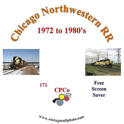 Vintage Railroad Photo CD - Chicago Northwestern RR - 1972 to Early 1980's