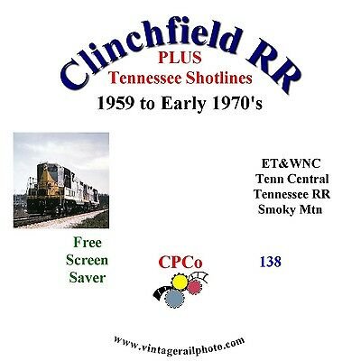Vintage Railroad Photo CD - Clinchfield RR + Tennessee Shortlines