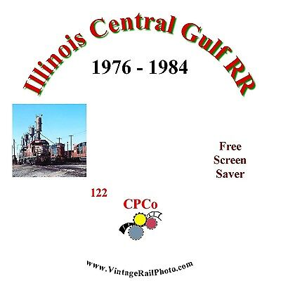 Vintage Railroad Photo CD - Illinois Central Gulf RR - 1976 to 1984
