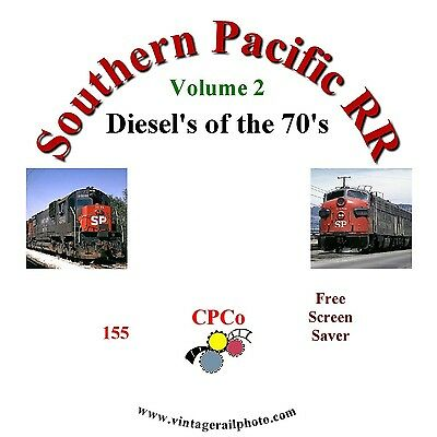 Vintage Railroad Photo CD - Southern Pacific RR Diesels of the 1970's