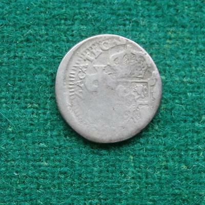 1812 Mexico 1/2 Real Zacatecas provisional coin war of Independence Off center