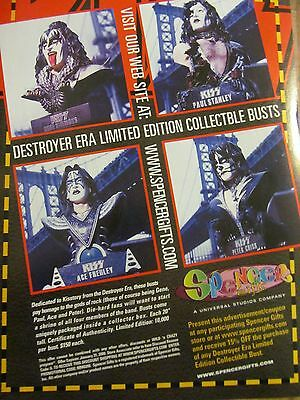 Kiss, Collectible Busts, Full Page Vintage Promotional Ad
