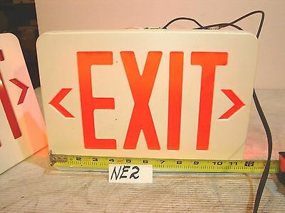 """Exit Sign Lighted Led 2 Sided New Works 12 X 9"""""""