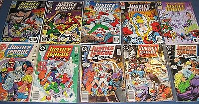 9 Issues Of Justice League Europe #1-5 & 46-50 NM