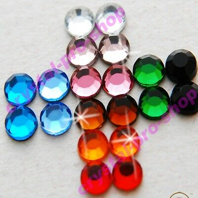 1440 Mixed Colors ss20 Iron on Hot fix Rhinestone Shine Crystal Craft 5mm 20ss G