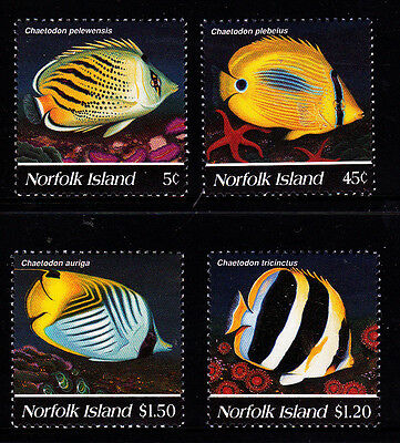 1995 Norfolk Island Butterfly Fish  MUH Complete Set