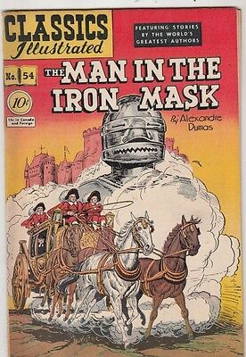 Classics Illustrated #54 Vol 1 Man in the Iron Mask strict FN/VF+ 7.5 High-Grade