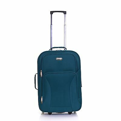 "Hi-Tec Ryanair Easyjet 20"" Expander Small Cabin Hand Suitcase Luggage Case Bag"