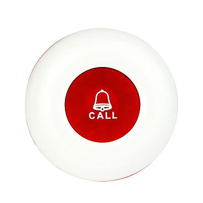 New! 433MHz Red Wireless Office Club Waiter Call Transmitter Button Call Pager Y