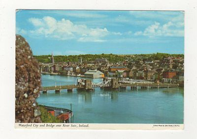 Waterford City & Bridge Over River Suir Ireland 1974 Postcard 986a