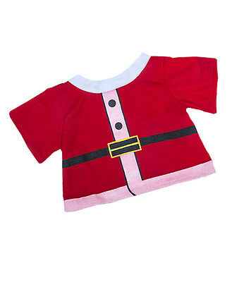"""Santa Claus Father Christmas T-shirtoutfit teddy clothes to fit 15"""" build a bear"""